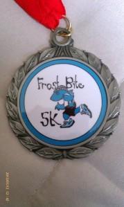 Frostbite 5k medal
