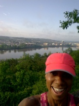Got off the course to take a selfie of all the elevation that was covered in the first 7.5 miles.