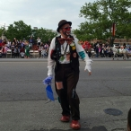 Pegasus parade clown