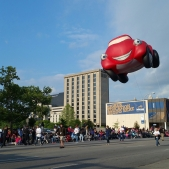 Pegasus parade red car balloon_1462839431240
