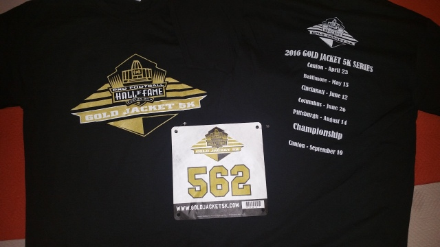 Gold jacket 5k shirt