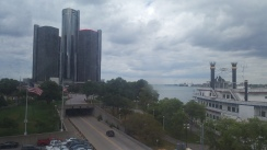Ren Cen view from People Mover
