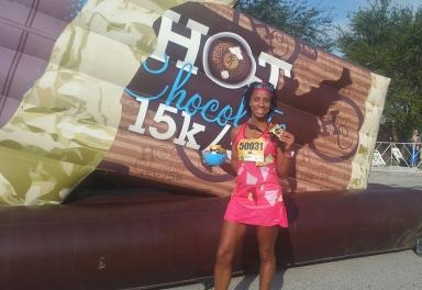 Kelsie Smoot Hot Chocolate 15K Tampa Finisher