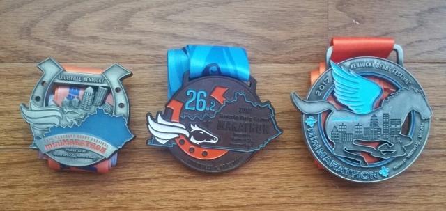 Kentucky derby festival medal 2017, 2015, 2014