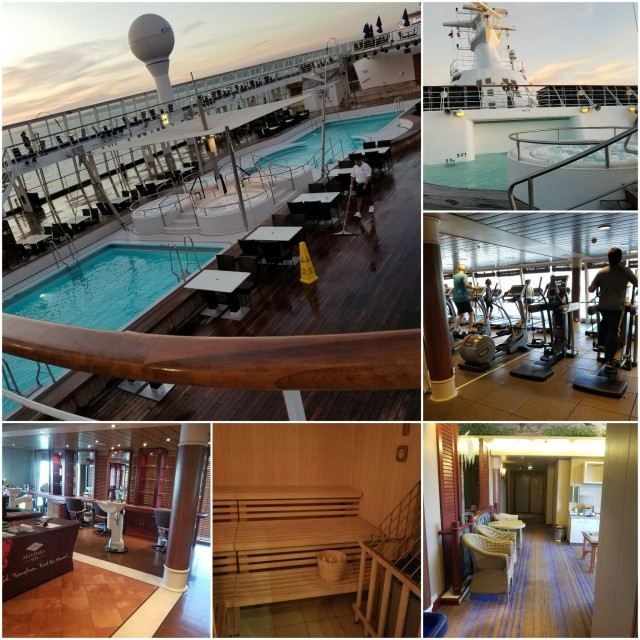 Norwegian Sky Pools, Spa, Fitness Center