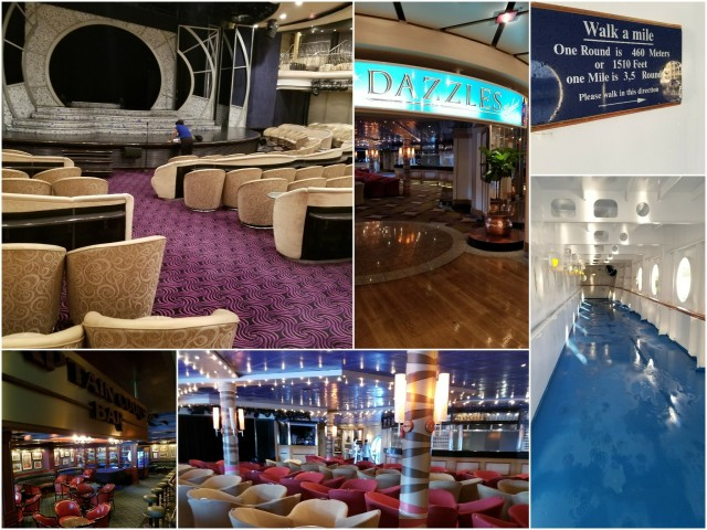 Norwegian Sky walking track, clubs, stardust lounge