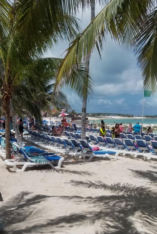 Great Stirrup Cay Bahamas beach chairs