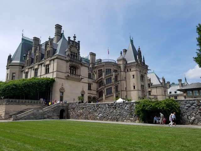 Biltmore House view from Italian Garden