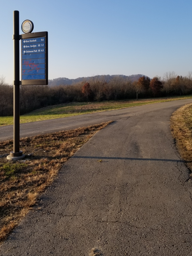 louisville loop path to chickasaw or ohio river overlook