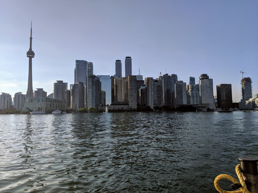 View of the city from Toronto Island