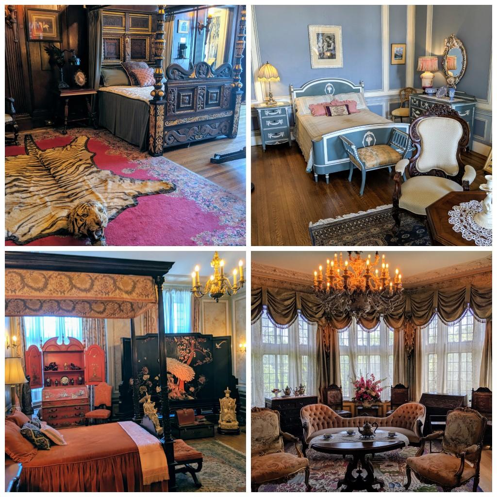 Casa Loma Suites Sir Pellatt's Suite, Lady Pellatt's Suite Guest Room, Round Room.